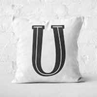 Handwritten U Square Cushion - 40x40cm - Soft Touch