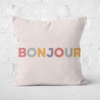 Bonjour Square Cushion - 60x60cm - Soft Touch