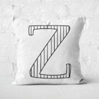 Handwritten Z Square Cushion - 40x40cm - Soft Touch