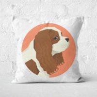 King Charles Spaniel Square Cushion - 50x50cm - Soft Touch