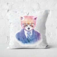 Hipster Red Panda Square Cushion - 60x60cm - Soft Touch