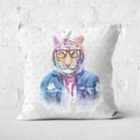 Hipster Tiger Square Cushion - 60x60cm - Soft Touch - Hipster Gifts