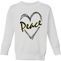 Peace Heart Kids' Sweatshirt - White - 7-8 Years - White