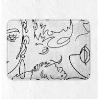 Line Drawing Bath Mat - Drawing Gifts