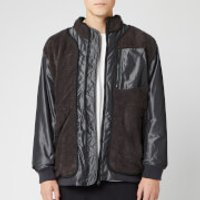 White Mountaineering Men's GORE-TEX Infinium W Stitched Quilted Boa Jacket - Charcoal - M