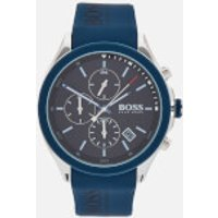 BOSS Hugo Boss Men's Velocity Leather Strap Watch - Rouge Black Blue
