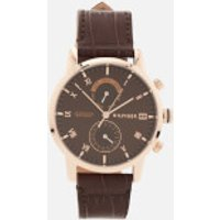 Tommy Hilfiger Men's Kane Leather Strap Watch - Brown