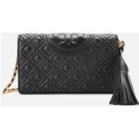 shop for Tory Burch Women's Fleming Wallet Cross Body Bag - Black at Shopo