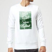 Work Travel Save Repeat Forest Photo Sweatshirt - White - 3XL - White
