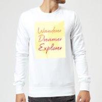 Wander Dreamer Explorer Background Sweatshirt - White - 3XL - White