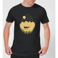 Moonlight Fox Adventure Men's T-Shirt - Black - 4XL - Black