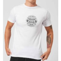 Vintage Old School Backpacker Pocket Print Men's T-Shirt - White - XXL - White - School Gifts