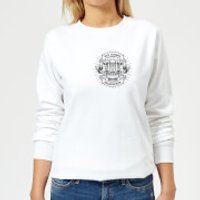 Vintage Old School Backpacker Pocket Print Women's Sweatshirt - White - XL - White