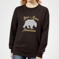 Adventure Born To Roam Women's Sweatshirt - Black - S - Black