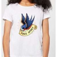 Swallow Free Spirit Women's T-Shirt - White - M - White