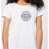 Vintage Old School Backpacker Pocket Print Women's T-Shirt - White - XS - White - School Gifts
