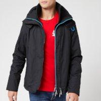Superdry Men's Pop Zip Hood Arctic SD Windcheater NB - Black/Super Denby - S