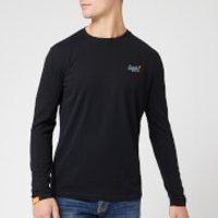Superdry Men's O L Vintage Embroidery Long Sleeve T-Shirt - Black - XL