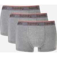 Superdry Men's Orange Label Sport Trunk Boxers Triple Pack - Dark Marl/Dark Marl/Dark Marl - M