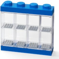LEGO Mini Figure Display (8 Minifigures) - Blue