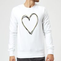 Heart Sweatshirt - White - 5XL - White