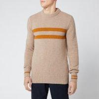 Oliver Spencer Men's Blenheim Crew Knitted Jumper - Barisan Beige - M