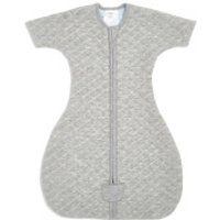 aden + anais Snug Fit Sleeved 1.5 Tog Sleeping Bag - Heather Grey - 0-3 months - Grey/Blue