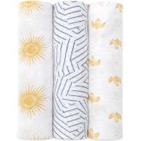 aden + anais Silky Soft Swaddles - Golden Sun (3 Pack)