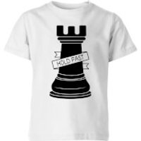 Rook Chess Piece Hold Fast Kids' T-Shirt - White - 7-8 Years - White