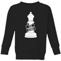 Queen Chess Piece Yas Queen Kids' Sweatshirt - Black - 9-10 Years - Black