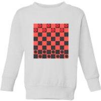 Red Checkers Board Kids' Sweatshirt - White - 9-10 Years - White