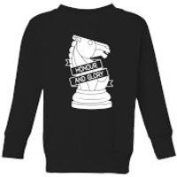 Knight Chess Piece Kids' Sweatshirt - Black - 3-4 Years - Black