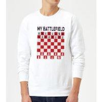 My Battlefield Chess Board Red & White Sweatshirt - White - L - White