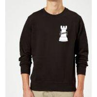 Hold Fast Pocket Print Sweatshirt - Black - XL - Black