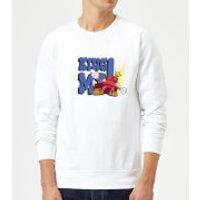 King Me! Checker Sweatshirt - White - L - White