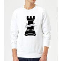 Rook Chess Piece Hold Fast Sweatshirt - White - XXL - White