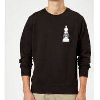 Check Mate Pocket Print Sweatshirt - Black - 4XL - Black