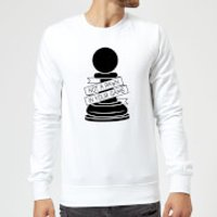 Pawn Chess Piece Sweatshirt - White - S - White