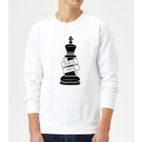 King Chess Piece Check Mate Sweatshirt - White - L - White