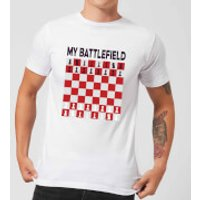 My Battlefield Chess Board Red & White Men's T-Shirt - White - M - White