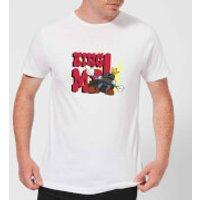 King Me! Checker King Men's T-Shirt - White - L - White