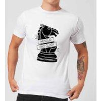 Knight Chess Piece Honour And Glory Men's T-Shirt - White - 5XL - White