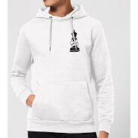 Queen Chess Piece Yas Queen Pocket Print Hoodie - White - L - White