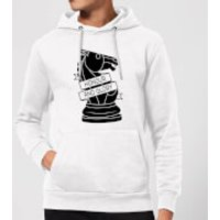 Knight Chess Piece Honour And Glory Hoodie - White - XL - White