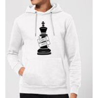 King Chess Piece Check Mate Hoodie - White - S - White