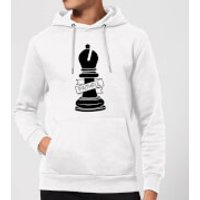 Bishop Chess Piece Faithful Hoodie - White - XXL - White
