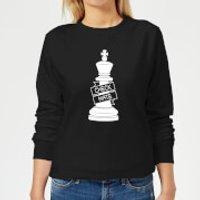 King Chess Piece Women's Sweatshirt - Black - L - Black