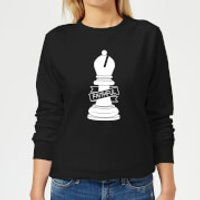 Bishop Chess Piece Faithful Women's Sweatshirt - Black - M - Black