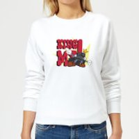 King Me! Checker King Women's Sweatshirt - White - XS - White