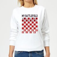 My Battlefield Chess Board Red & White Women's Sweatshirt - White - S - White